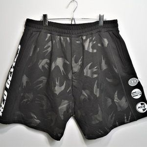 MCQ ALEXANDER MCQUEEN Multi Bird Logo Shorts Black